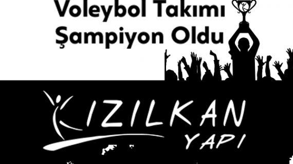 Kızılkan Yapı Voleybol Takımı Şampiyon Oldu